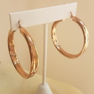 Jewelry - 1.5 inches Rose Gold Plated Hoop Earrings